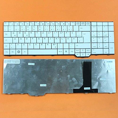 kompatibel mit Fujitsu Siemens Amilo Li3910 DEUTSCHE - Weiß Tastatur Keyboard