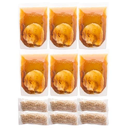 富良野とみ川 冷凍 石臼挽き中華そば 6食 ストレートスープ スープ360g麺140g×各6 北海道