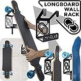 Support Mural Rangement pour Longboard (100% Acier) (2 X Noir)