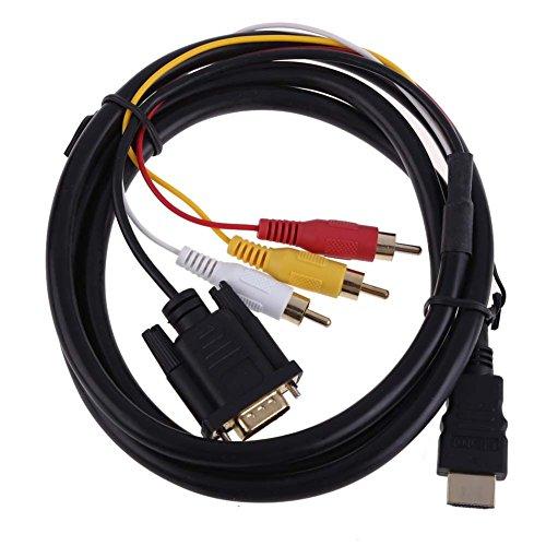 Cable Convertidor 1080P Hdmi a 3 RCA + VGA para Ps4 Xbox...