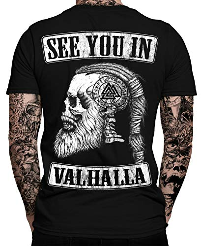 See You IN Valhalla T-Shirt   Thor   Vikings Tshirt   Ragnar   Valhalla Rising   Walhalla   Wodan   Wikinger   Valknut   Odin   Herren Männer T-Shirt