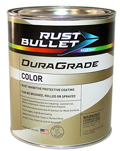 Rust Bullet DuraGrade Color - Advanced Technology Rust Inhibitor Corrosion Control and Protective Coating - Exceptional Adhesion - UV Resistant (Quart, White)