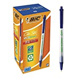 BIC Ecolutions Round Stic Ballpoint Pen, Medium Point (1.0mm), Blue, 50-Count, For a Smooth Writing Experience