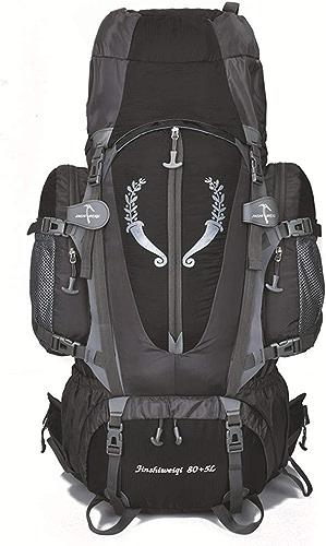 Sac d'alpinisme de Grande capacité 80L Sac de Voyage imperméable Hommes et Femmes Sac d'alpinisme (Rouge)