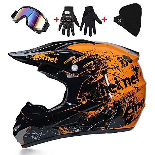 LWAJ - Casco de motocross para hombre y mujer con gafas de...