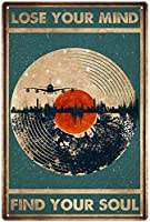 RCY-T ブリキサイン Vintage Forest Reflection Record Poster Bar Club Restaurant Cafe Home Wall Decoration 8x12 Inches-11-8x12 inch