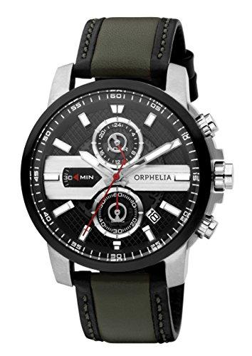 Orphelia Herren-Armbanduhr X-plane Analog Quarz Leder 81600