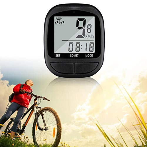 AORUNZHI Bicicleta multifunción computadora Bicicleta de montaña Bicicleta cuentakilómetros cronómetro Impermeable Bicicleta...