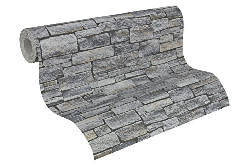 A.S. Création Vliestapete Dekora Natur Tapete in Naturstein Optik 10,05 m x 0,53 m braun grau schwarz Made in Germany 958711 95871-1