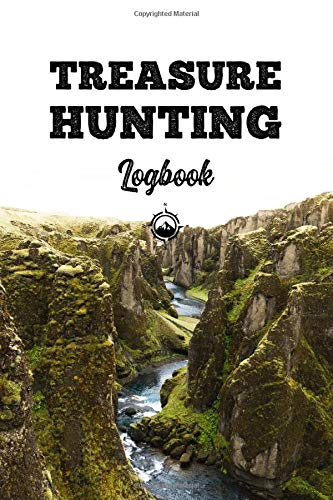 Treasure Hunting Log Book Journal Notebook Diary Planner - Green Rocks: Geo Hunt Record with 120 Pages In 6