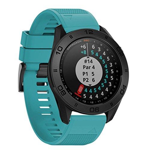 Garmin Approach S60Band, Yuyoug morbido silicone strap sport Watch Band regolato con utensili per Garmin Approach S60Smartwatch