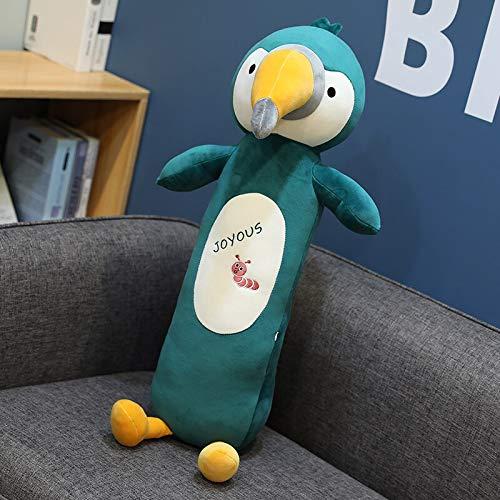 RJGLKS 60CM Lindo Loro de Peluche de Juguete de Peluche de Avestruz pájaro de Peluche muñecos de Peluche Almohada de Siesta de Animales Juguetes para niños Regalos de cumpleaños de bebé Verde