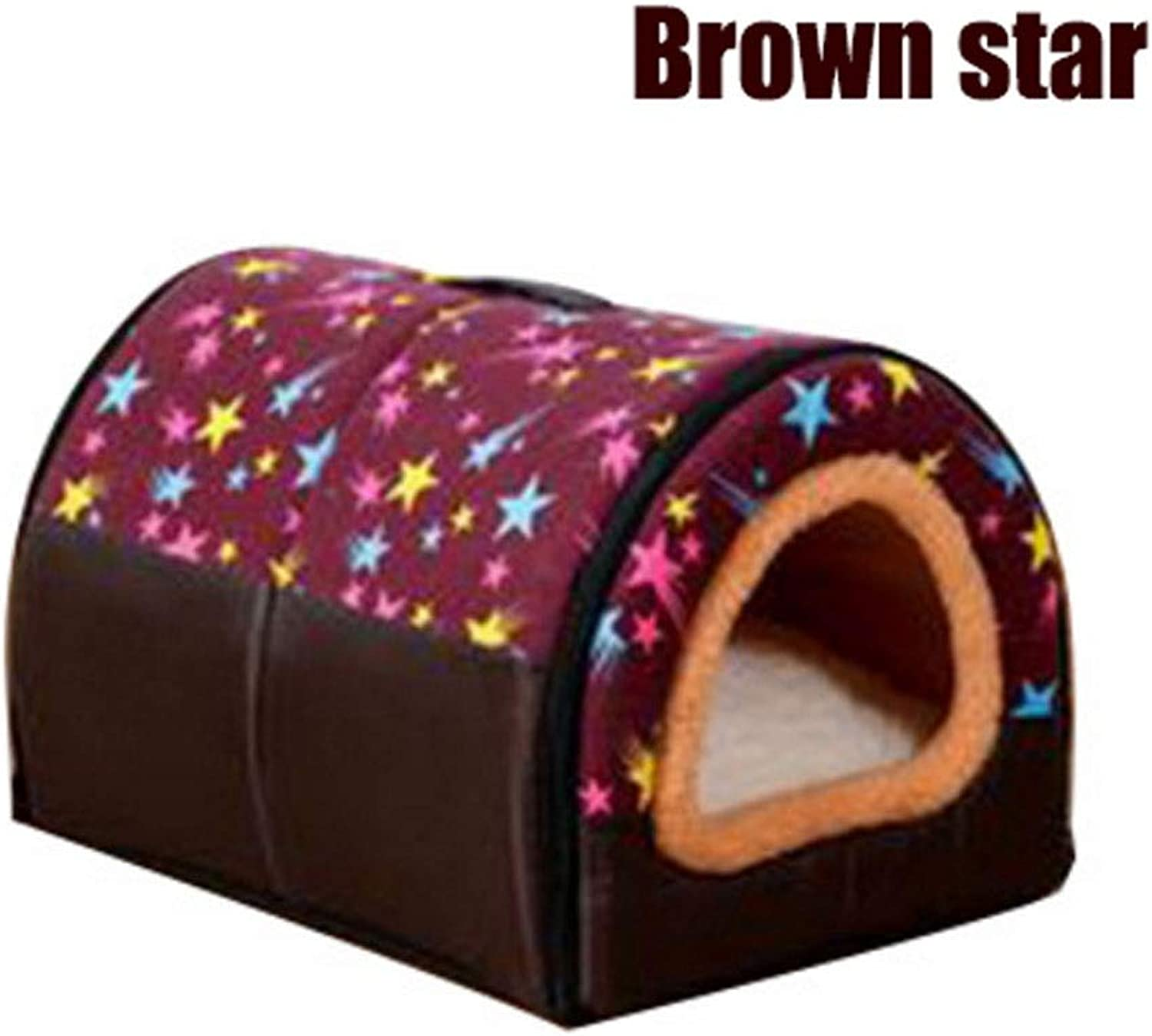 Dog Bed Cat Bed Pet House 2in1 And Classic Portable Washable Sofa NonSlip Dog Cat Cave House Beds With Removable Cushion Warm Pet Bed (color   H, Size   Xl)