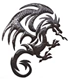 Dragon Metal Wall Hanging Artwork, Unique Original Art from Haiti, 20.5 x 15 Inches