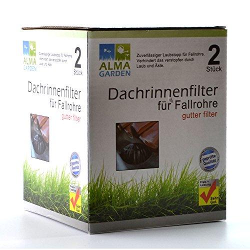 2er Fallrohrschutz Laub & Schmutz Dachrinnenfilter 2er-Set Fallrohr Filter Verschluss Laubschutz
