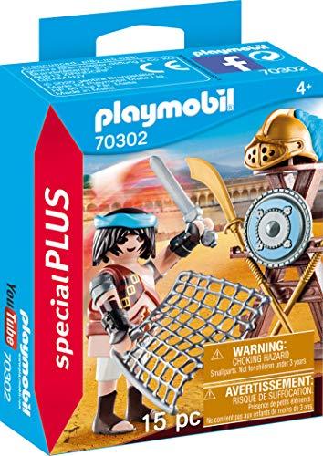 PLAYMOBIL Special Plus 70302 - Gladiador con Soporte para Armas, a Partir de 4 años