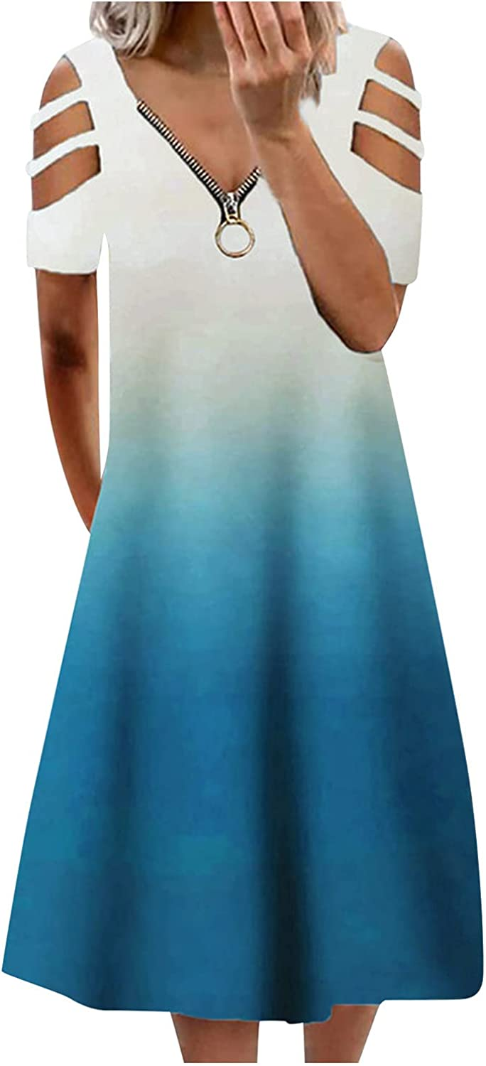 ummer New products, world's highest quality popular! Dresses Max 61% OFF for Women 2021 Shoulder Casual Cold t-Shirt Dress