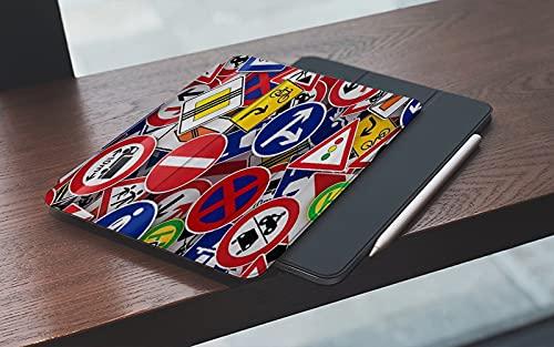 MEMETARO Funda para iPad 10.2 Pulgadas,2019/2020 Modelo, 7ª / 8ª generación,Superposición de Varios Indicadores Viales Smart Leather Stand Cover with Auto Wake/Sleep