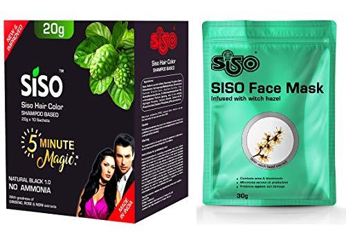 Siso 5 Minute Magic Hair Color Shampoo, 200ml - Free Beauty Rich Soap 100gm