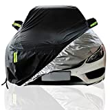 Kompatibel mit Bentley Bentayga wasserdichte Car Cover Four Seasons Verfügbar Mobile Garage Auto-Aufkleber Breath Abdeckung Aroud Die Uhr in voller Deckung Staub-Beweis-Auto-Schild (Color : Black)
