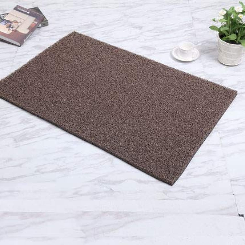 Non-Slip Durable Door Mat, Large Door Mat Front Door Mat Kitchen Carpet Bathroom Mat Home-Coffee color 60x90cm(24x35inch)