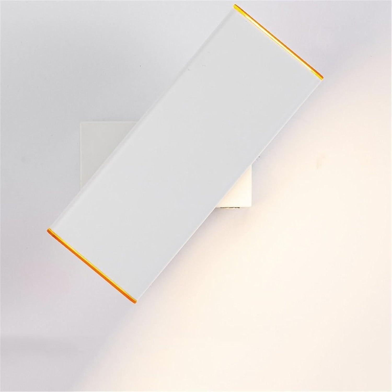 StiefelU LED Wandleuchte nach oben und unten Wandleuchten Wandleuchte Schlafzimmer Bett im Wohnzimmer, Arbeitszimmer mit Dimmer lesen Wandleuchten drehen Wahlen 26 10 CM weies Kstchen mit Tageslicht