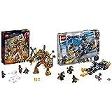 レゴ(LEGO) スーパー・ヒーローズ  モルテンマンの戦い 76128 マーベル ブロック おもちゃ 男の子 &  スーパー・ヒーローズ  キャプテン・アメリカ:アウトライダーの攻撃 76123 ブロック おもちゃ 男の子【セット買い】