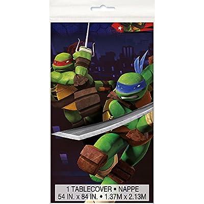 """Teenage Mutant Ninja Turtles Plastic Tablecloth, 84"""" x 54"""""""