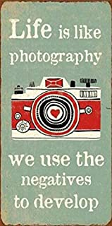 1art1 Ispirazione - Life Is Like Photography We Use The Negatives To Develop Calamita (10 x 5cm)