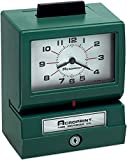 Acroprint 01-1070-411 Model 125NR4 Heavy-Duty Manual Print Time Recorder; Prints Month, Date, Hour and Minutes; Large, Easy-to-read Analog Clock Face; Antimicrobial Touch Bar Helps Protect Against Bacteria