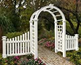 BestNest New England Nantucket Deluxe Arbor and Cottage Picket Wings