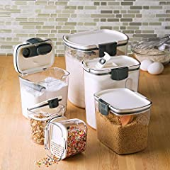 MULTIFUNCTIONAL SPECIALTY: This set includes storage containers for Flour, Granulated Sugar, Brown Sugar, Powdered Sugar & 2 Mini Pro Keepers. Each Keeper features its own specialized integrated tool. 6-PIECE CONTAINER SET: This set includes 6 stacka...