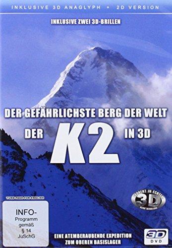 K2 in 3D - Der gefährlichste Berg der Welt ( 2D und 3D anaglyph - inkl. 2 Brillen)