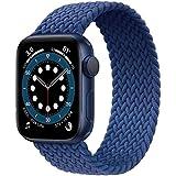 JONWIN Geflochtenes Solo Loop Kompatibel mit Apple Watch Armband 42mm 44mm,Dehnbare Verflochtenen...