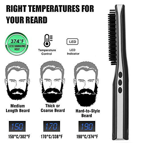 Baiwka-Mens-Ion-Beard-BrushSmart-USB-Charging-Beard-Straightener-Comb-Portable-Men-Fast-Beard-Smoothing-Comb-Built-in-Lithium-BatteryCeramic-Beard-Brush-For-TravelHome