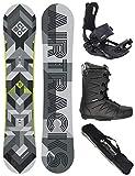 Set completo per Snowboard Airtracks - Cubo Wide + Attacchi Snowboard Star + Stivali snowboard + SB Bag , Uomo, Boots Star Black 40