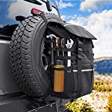 Spare Tire Trash Bag, JoyTutus Fits 40' Tire Large Capacity Spare Tire Bag for Wrangler JK JKU JL JLU Cargo Storage Bag, Tool & Gear for Outdoor Off-Road Recovery Gear Multi-Pockets - Universal fits