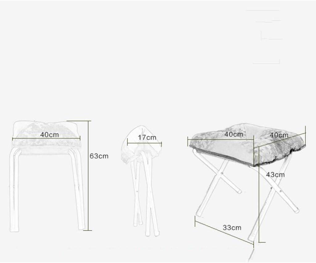 LAOMAO Pouf en Tissu de Repos à la Maison, Tabouret Pliable de Changement de Tabouret de Balcon de Sieste de Balcon de Changement de Banc 33 * 43CM de Chaussure (Couleur : C) G