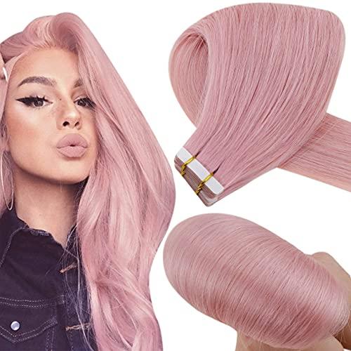 Hetto Extension Tape Cheveux Lilas Adhesive Pas Cher 22 Pouces Seamless Skin Weft Extension Épais Tape in Hair Extensions Human Hair 10 Pièces 25g par Paquet
