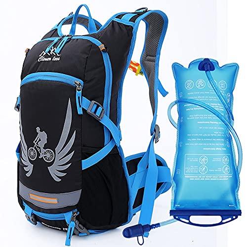 AOKUO Deportes al Aire Libre Ciclismo Mochila Paquete de hidratación Camping Escalada Trekking Outdoor Deporte Casco Casco Rucksack Mochila Daypack (Color : Blue)