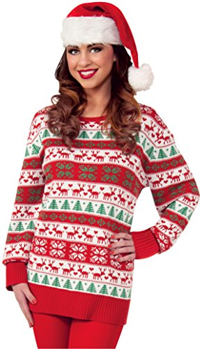 Forum Novelties Women's Plus Size Adult All Wrapped Up Ugly Christmas Sweater, Winter Wonderland, 2XL
