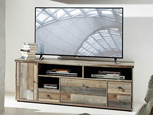 möbelando TV-Lowboard Unterschrank Sideboard Fernsehtisch HiFi Board Schrank Britta IV