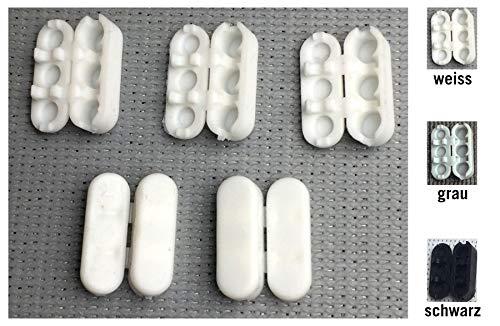 EFIXS 5 Stück Kettenverbinder aus PVC - Weiss - für Kugeldurchmesser bis 4,5 mm - Nicht selbstauslösend - für Rolloketten, Perlenketten, Lamellenvorhangketten, Kugelketten oder Jalousienketten
