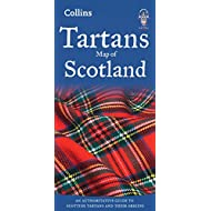 Tartans Map of Scotland (Collins Pictorial Maps)