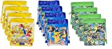 Pokemon Party Gift Bags Decorations for Kids Drawstring Gift Bag Goodies Green Yellow Blue 12 Pack