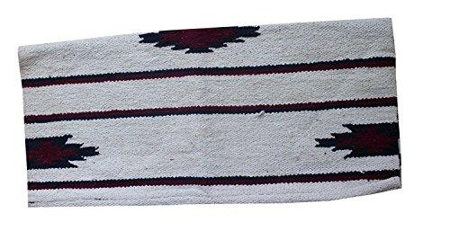 Reitsport Amesbichler Westernpad weiß Pony Sattel Navajo Decke 26 x 26 Inch, 66 x 66 cm Western Satteldecke für Ponysättel Saddle Blanket