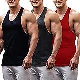 COOFANDY Men's Sleeveless T Shirt 3 Pack Gym Workout Tank top Sport Training Tee