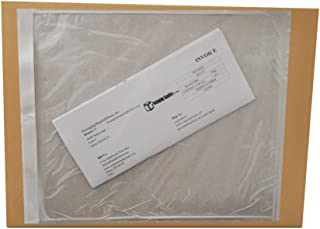 9.5x12 Shipping Label Pouch, Packing List Envelope, Clear White, 9.5 x 12 inch, Self Adhesive, 500 Pack