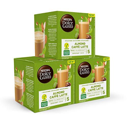 Nescafé DOLCE GUSTO Café ALMENDRA LATTE - Pack De 3 x 12 cápsulas - Total: 36 Cápsulas