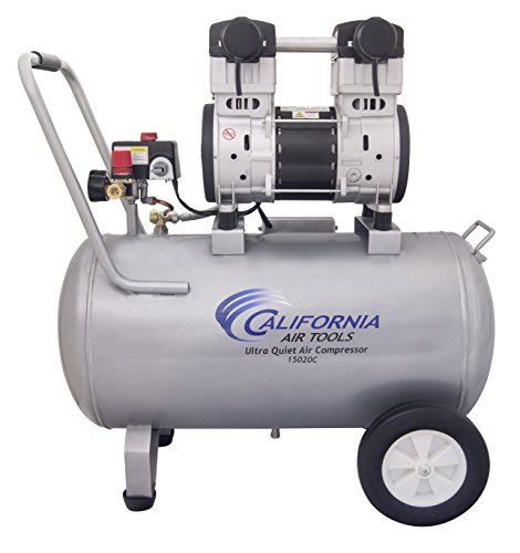 California Air Tools 15020C Ultra Quiet & Oil-Free 2.0 Hp 15.0 gallon Steel Tank Air Compressor